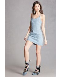 Forever 21 | Blue Faux Leather Strappy Flats | Lyst