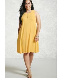 Forever 21 - Yellow Plus Size Swing Dress - Lyst