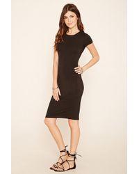 Forever 21 | Black Midi T-shirt Dress | Lyst