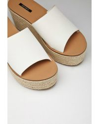 Forever 21 Natural Faux Leather Espadrille Wedges