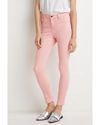 Forever 21 - Pink Classic Skinny Jeans - Lyst