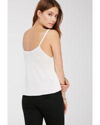 Forever 21 - White Ribbed Knit Sweater Tank - Lyst