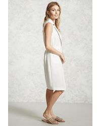 Forever 21 - White Contrast-piped Longline Vest - Lyst