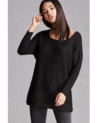 Forever 21 | Black Honeycomb Knit Sweater | Lyst