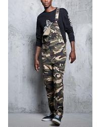 Forever 21 - Black Camo Print Overalls for Men - Lyst