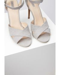 Forever 21 - Gray Ankle Strap Sandals - Lyst