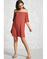 Forever 21 Red Contemporary Mini Dress