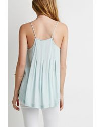 Forever 21 - Green Pleated Trapeze Cami - Lyst