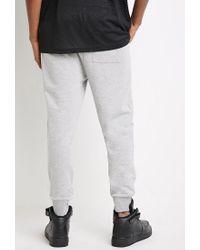 Forever 21 - Gray Mesh-paneled Sweatpants for Men - Lyst