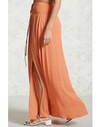Forever 21 Orange Contemporary Maxi Skirt