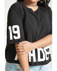 Forever 21 Black Plus Size Ath. Dept Tee