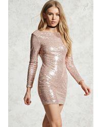 04023166 Forever 21. Women's Sequin Mini Bodycon Dress