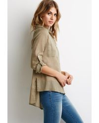 Forever 21 | Green Contemporary Boxy Woven Shirt | Lyst