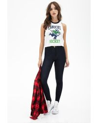 Forever 21 | Blue High-rise Skinny Jeans | Lyst