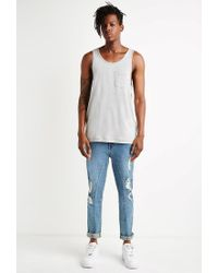 Forever 21 | Blue Paneled Slim Fit Jeans for Men | Lyst