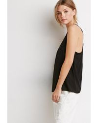 Forever 21 - Black Contemporary Braided Strappy-back Tank - Lyst