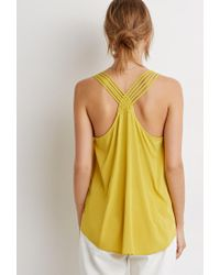 Forever 21 - Yellow Contemporary Braided Strappy-back Tank - Lyst