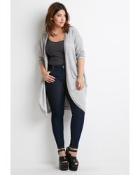 Forever 21 Blue Plus Size Classic Skinny Jeans (short)