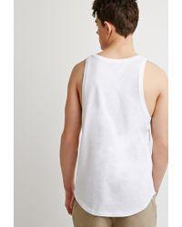 Forever 21 White 's Curved-hem Tank Top for men