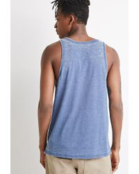 Forever 21 - Blue Heathered Tank for Men - Lyst