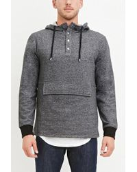 Forever 21 - Gray French Terry Pocket Hoodie for Men - Lyst