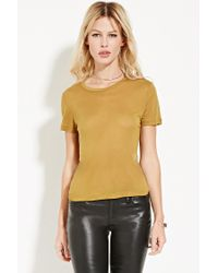 Forever 21 - Green Contemporary Sheer Classic Tee - Lyst