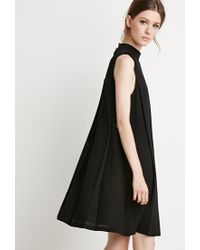 Forever 21 - Black Contemporary Pleated Trapeze Dress - Lyst