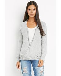 Forever 21 - Gray Contemporary Open-front Longline Cardigan - Lyst