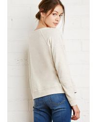 Forever 21 - Natural 84 Heathered Raglan Sweater - Lyst