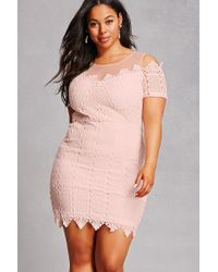 Forever 21 Synthetic Soieblu Plus Size Dress in Blush (Pink ...