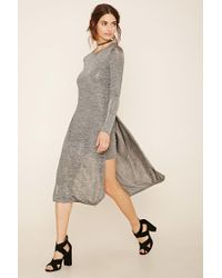 Forever 21 | Gray Layered Stretchy Marled Dress | Lyst