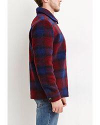 Forever 21 - Purple Tartan Plaid Wool-blend Jacket for Men - Lyst