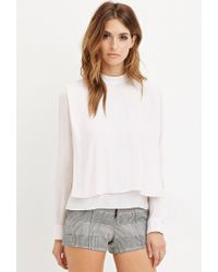 Forever 21 - Pink Draped Chiffon Blouse - Lyst