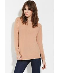 Forever 21 | Pink Ribbed-trim Dolman Sweater | Lyst