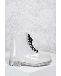 Forever 21 Metallic Glitter Rain Boots