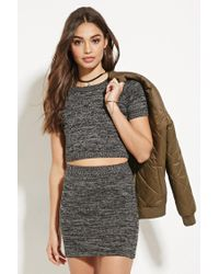 Forever 21 | Gray Marled Sweater Knit Skirt | Lyst