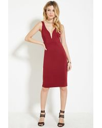 Forever 21 | Purple Strappy Sheath Dress | Lyst