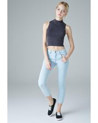 Forever 21 Blue Low-rise Skinny Ankle Jeans