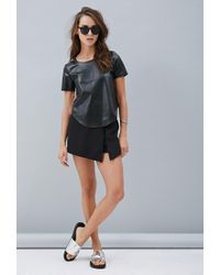 Forever 21 - Black Private Archives Perforated Metallic-back Top - Lyst