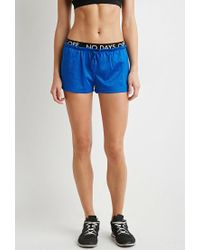 Forever 21 | Blue Active No Days Off Mesh Shorts | Lyst