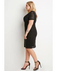 Forever 21 - Black Plus Size Shadow Stripe Dress - Lyst