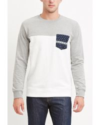 Forever 21 | White Bandana-pocket Sweatshirt for Men | Lyst