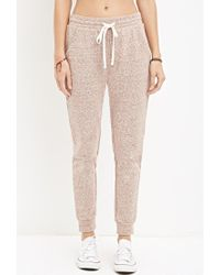 Forever 21 - Brown Marled French Terry Sweatpants - Lyst