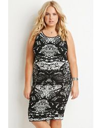 Forever 21 | Black Abstract Pattern Sweater Dress | Lyst