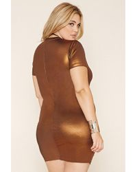 Forever 21 - Plus Size Metallic Sheath Dress - Lyst