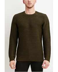 Forever 21 | Green Textured Knit Sweater for Men | Lyst