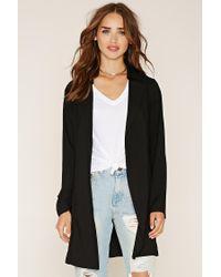 Forever 21 | Black Longline Belted Coat | Lyst