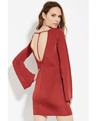 Forever 21 | Brown Contemporary Cutout-back Dress | Lyst