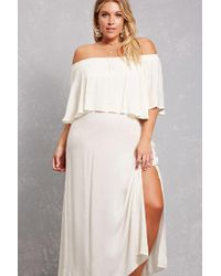 Forever 21 Plus Size Boho Me Maxi Dress in Ivory (White) - Lyst