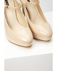 Forever 21 - Natural Faux Patent Mary Jane Platform Pumps - Lyst
